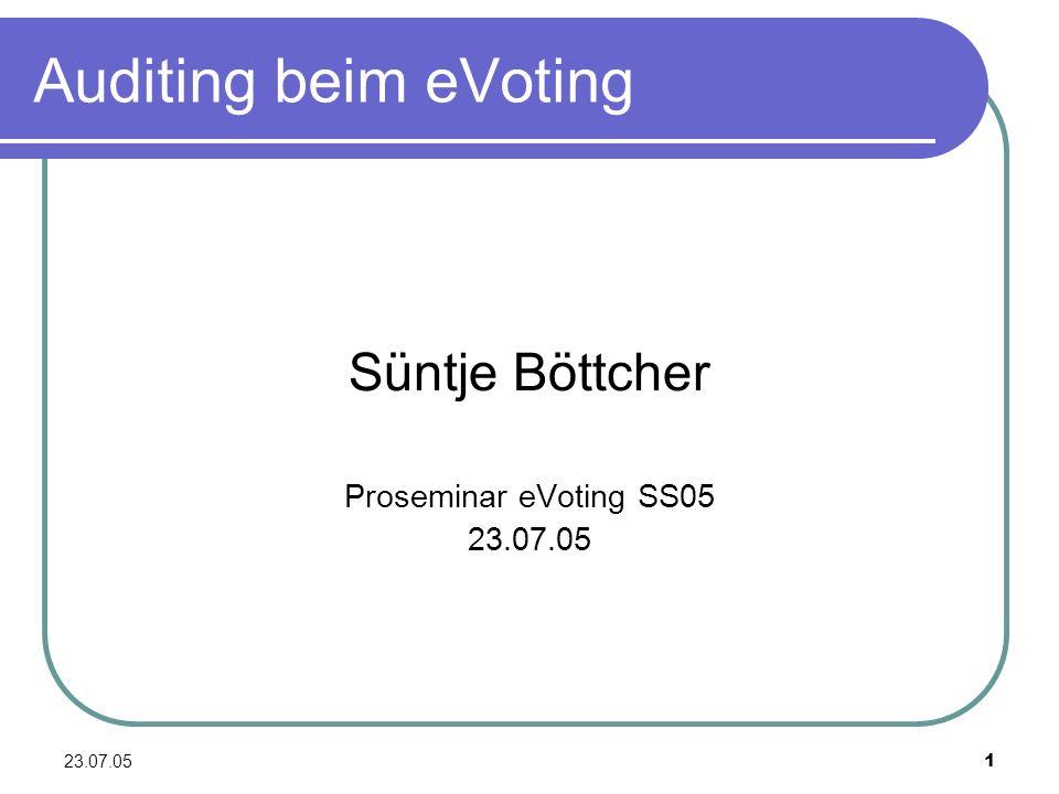 Süntje Böttcher Proseminar eVoting SS05 23.07.05