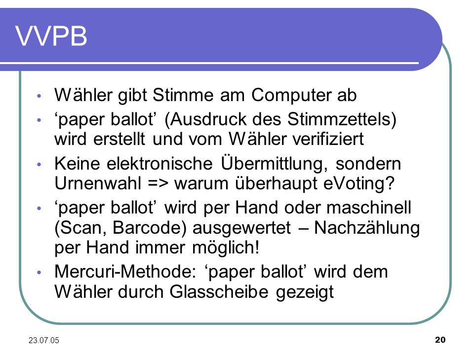 VVPB Wähler gibt Stimme am Computer ab