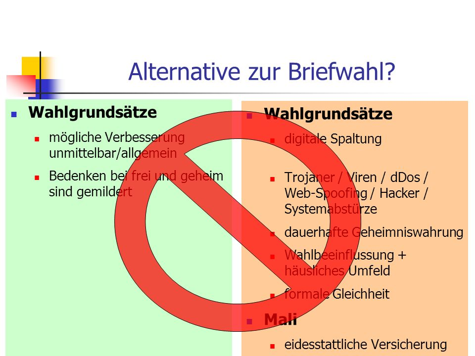 Alternative zur Briefwahl