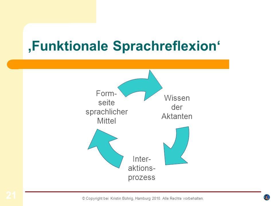 'Funktionale Sprachreflexion'