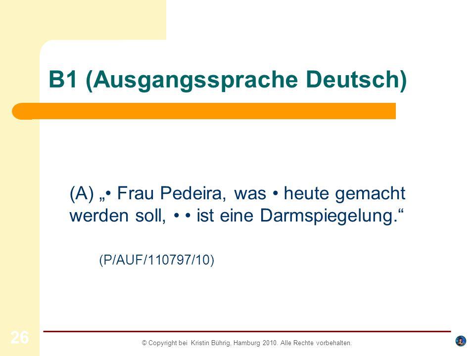 B1 (Ausgangssprache Deutsch)