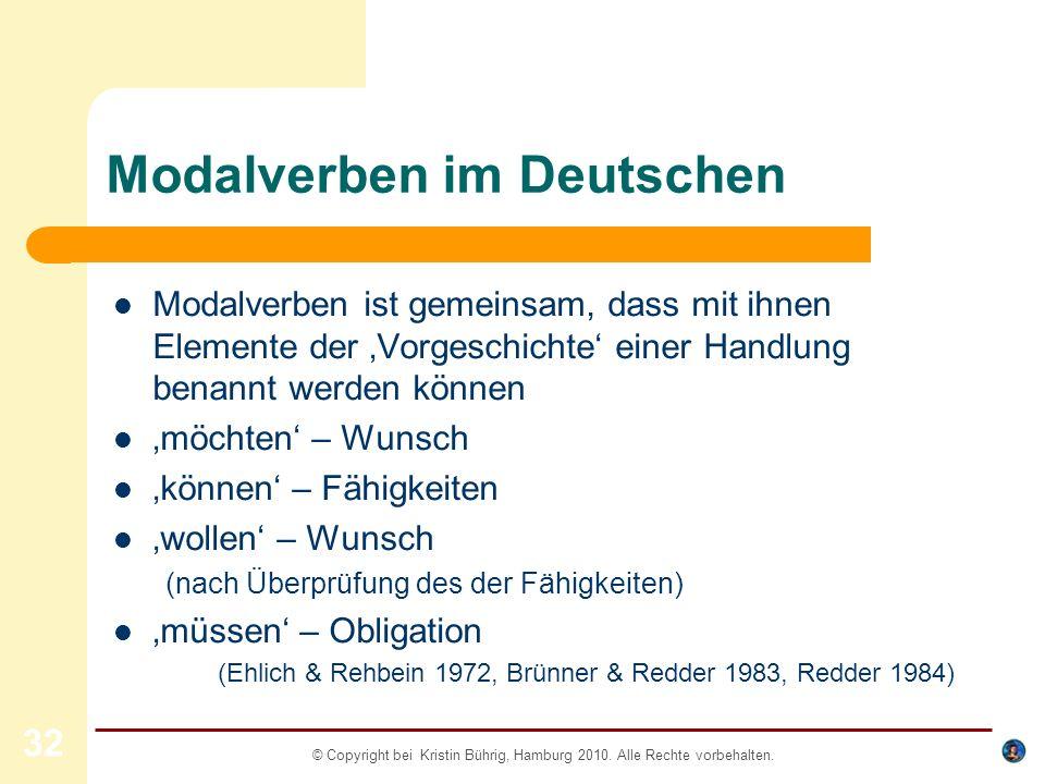 Modalverben im Deutschen