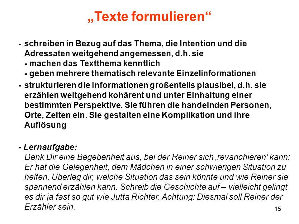 """""""Texte formulieren"""