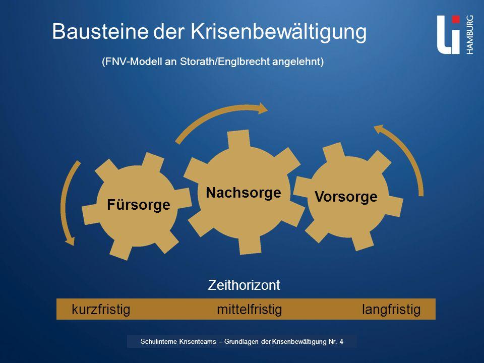 Bausteine der Krisenbewältigung (FNV-Modell an Storath/Englbrecht angelehnt)