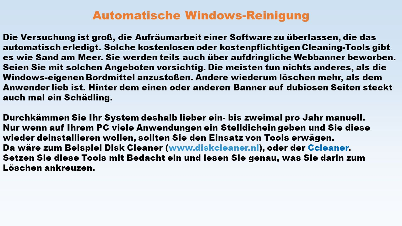 Automatische Windows-Reinigung