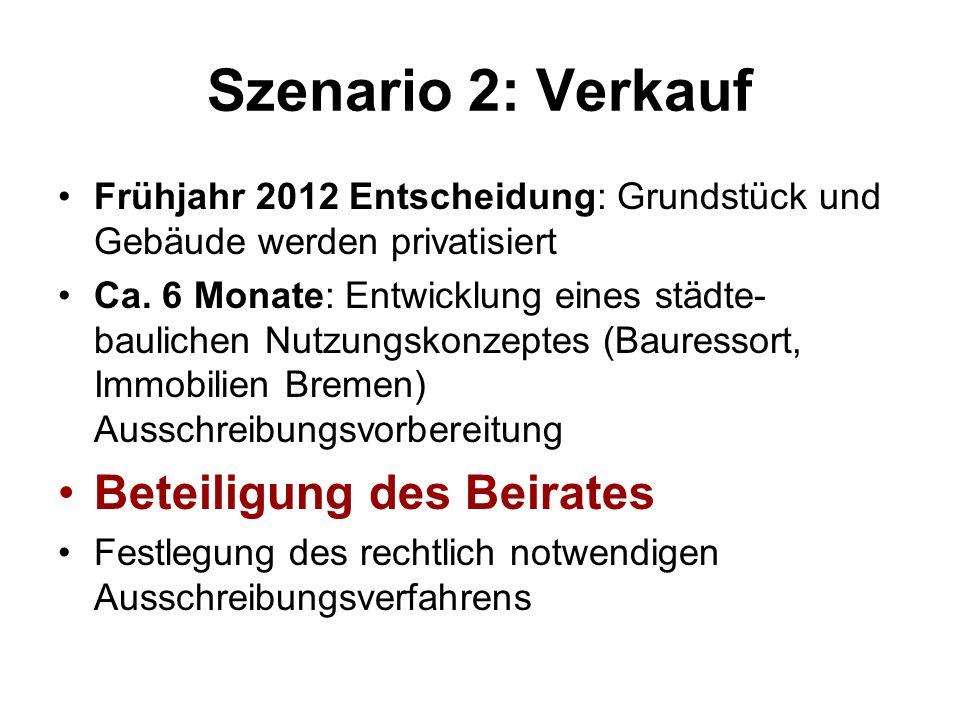 Szenario 2: Verkauf Beteiligung des Beirates