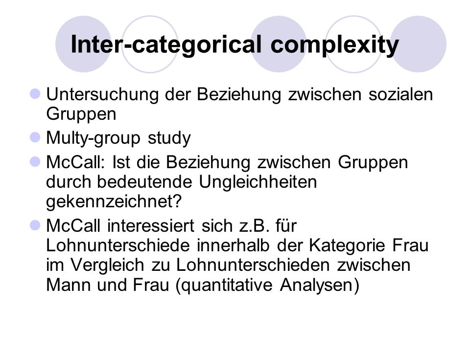 Inter-categorical complexity