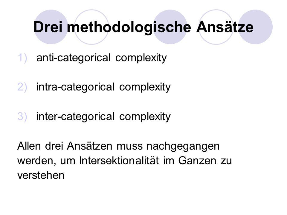 Drei methodologische Ansätze