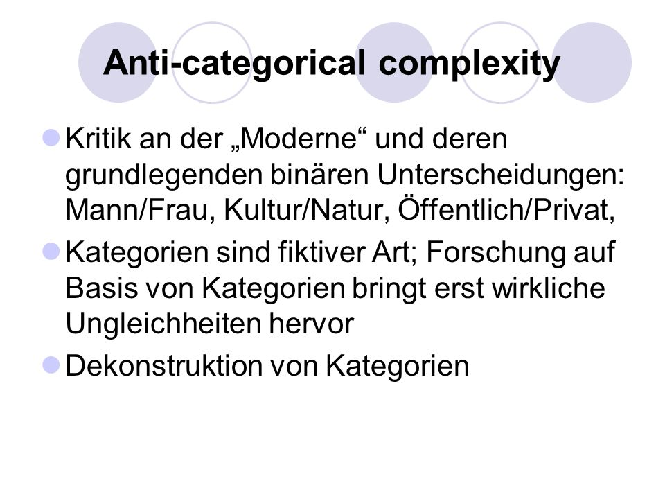 Anti-categorical complexity