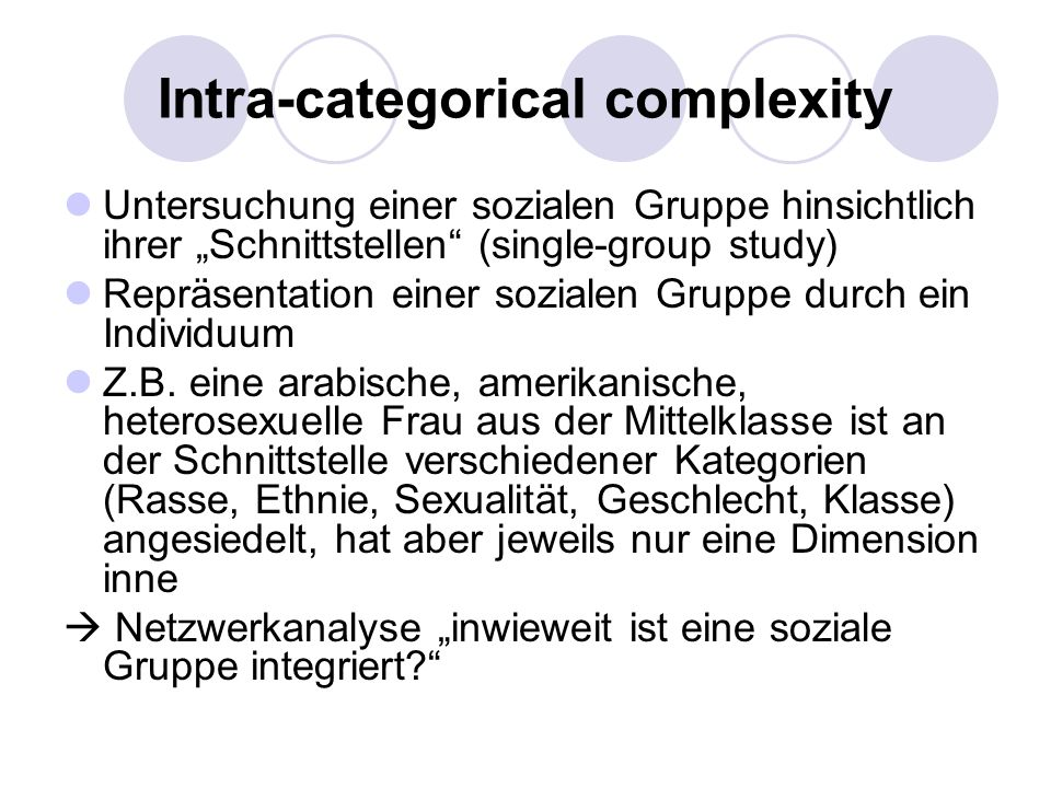 Intra-categorical complexity
