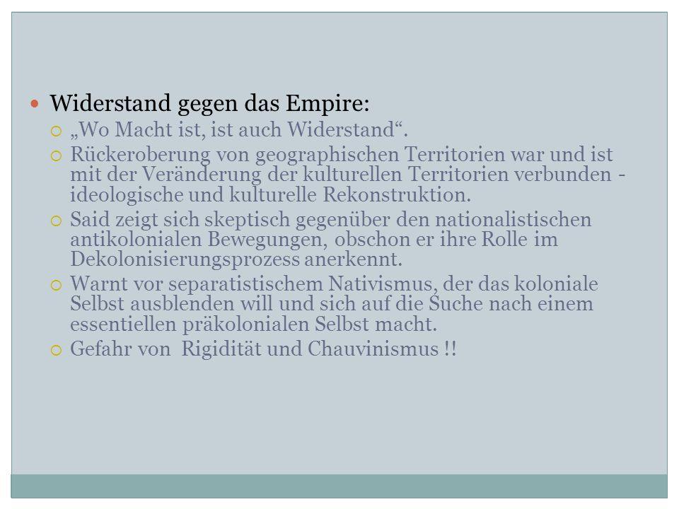 Widerstand gegen das Empire:
