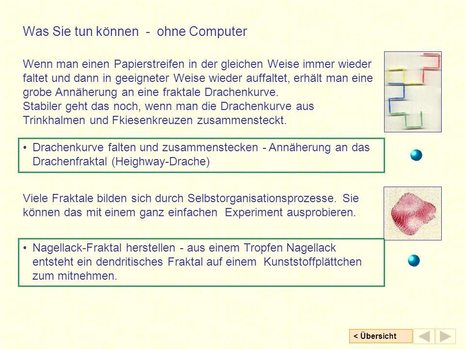 Was Sie tun können - ohne Computer