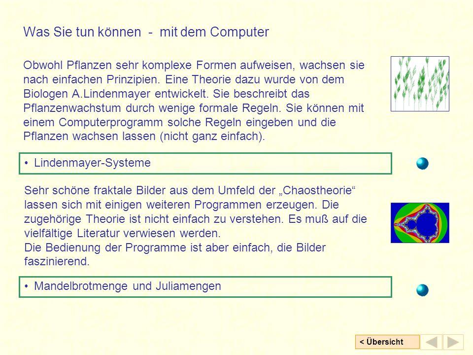 Was Sie tun können - mit dem Computer