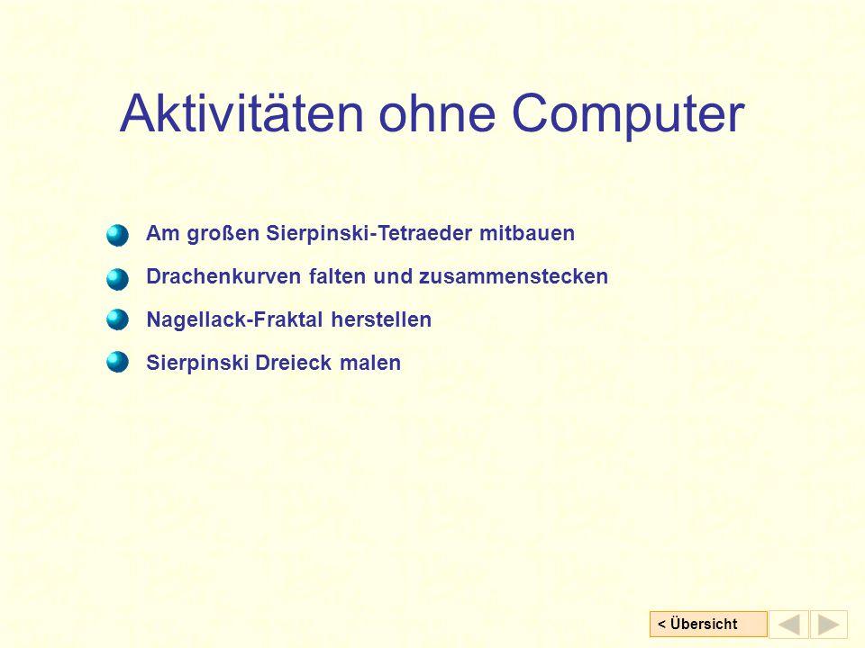 Aktivitäten ohne Computer