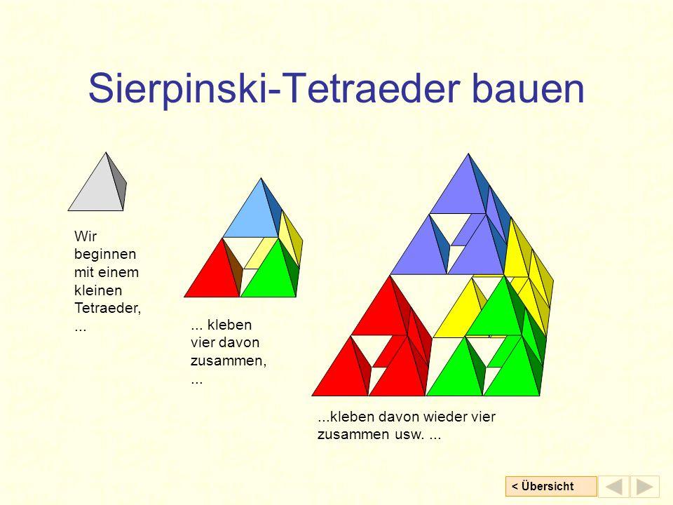 Sierpinski-Tetraeder bauen