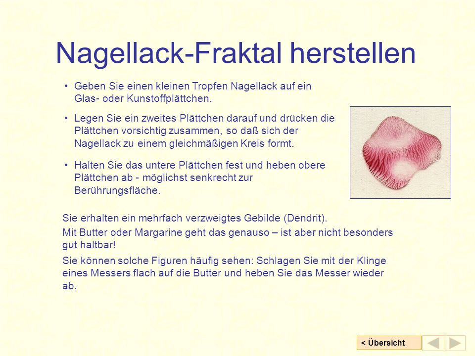 Nagellack-Fraktal herstellen