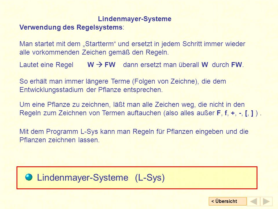 Lindenmayer-Systeme (L-Sys)