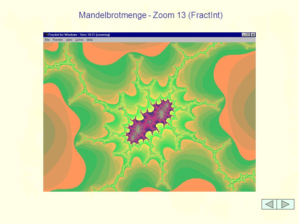 Mandelbrotmenge - Zoom 13 (FractInt)