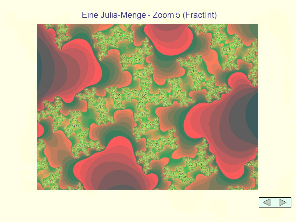 Eine Julia-Menge - Zoom 5 (FractInt)