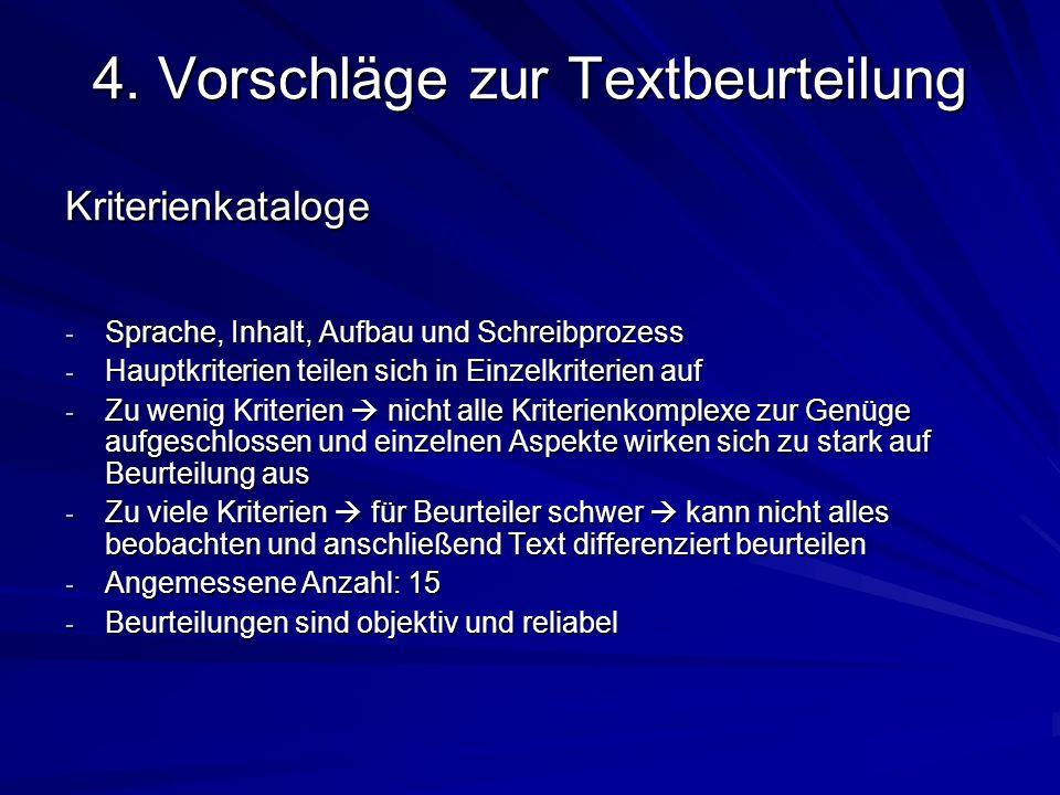 4. Vorschläge zur Textbeurteilung