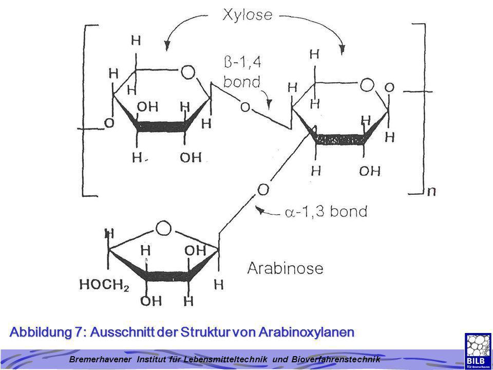 Abbildung 7: Ausschnitt der Struktur von Arabinoxylanen