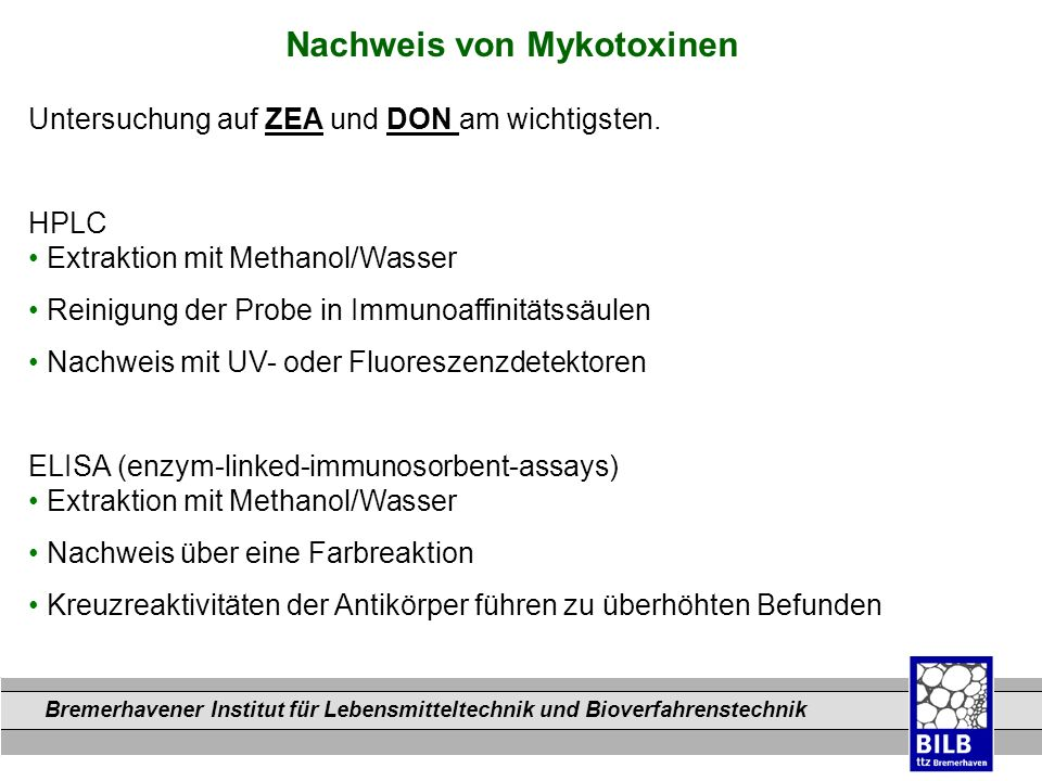 Nachweis von Mykotoxinen