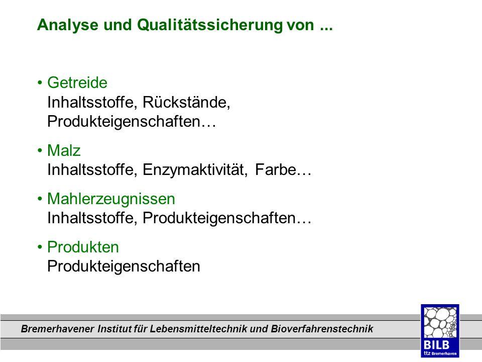 Analyse und Qualitätssicherung von ...