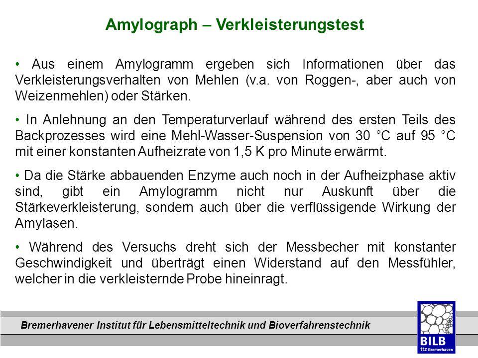 Amylograph – Verkleisterungstest