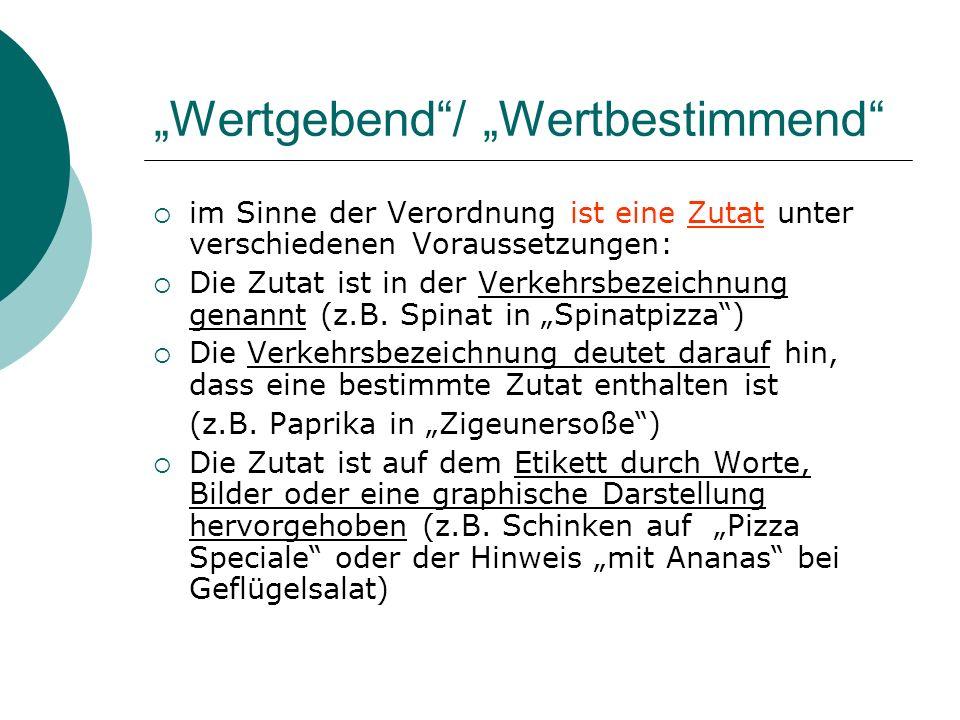 """""""Wertgebend / """"Wertbestimmend"""