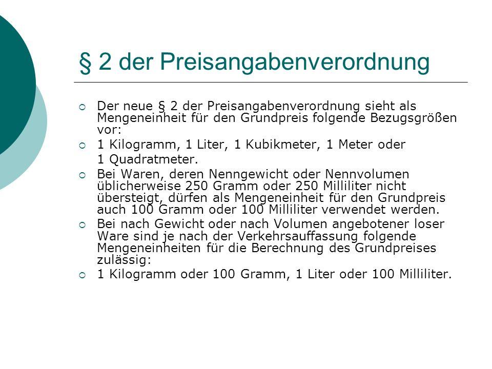 § 2 der Preisangabenverordnung