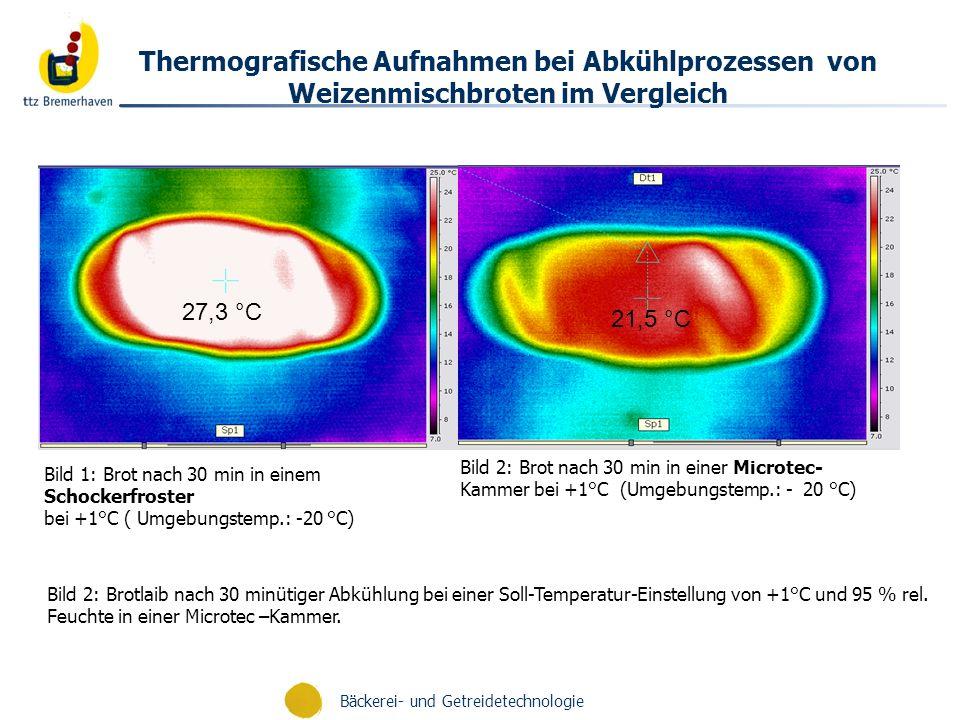 Thermografische Aufnahmen bei Abkühlprozessen von