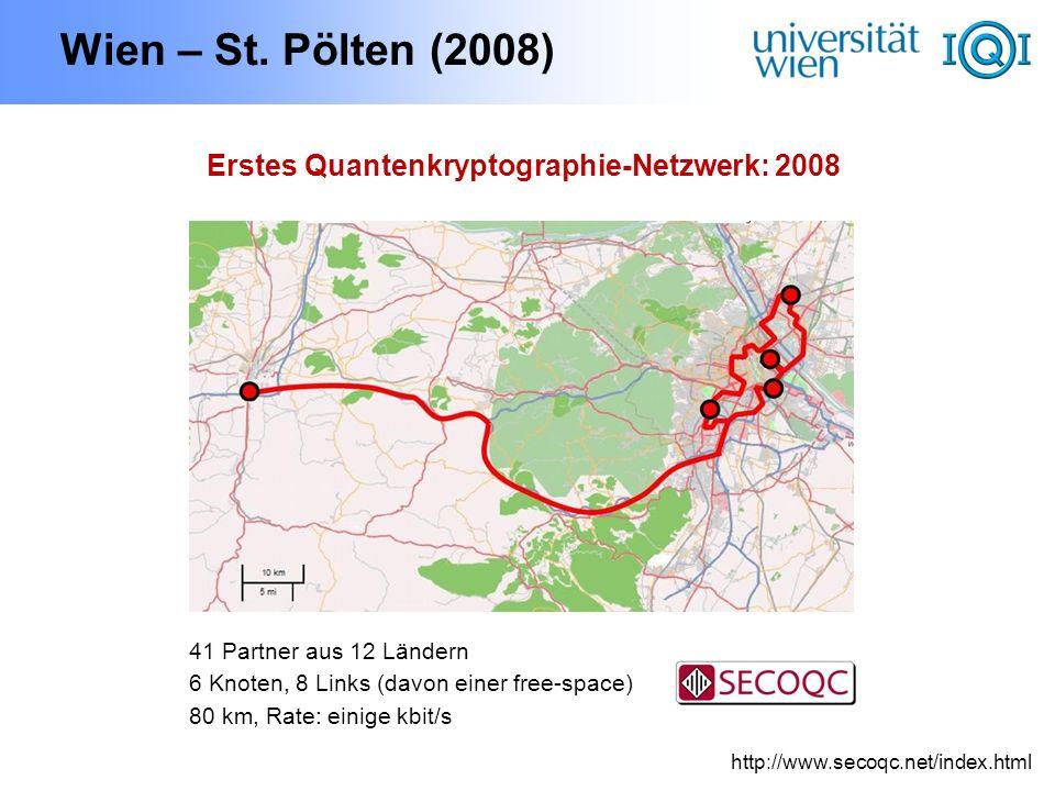 Erstes Quantenkryptographie-Netzwerk: 2008