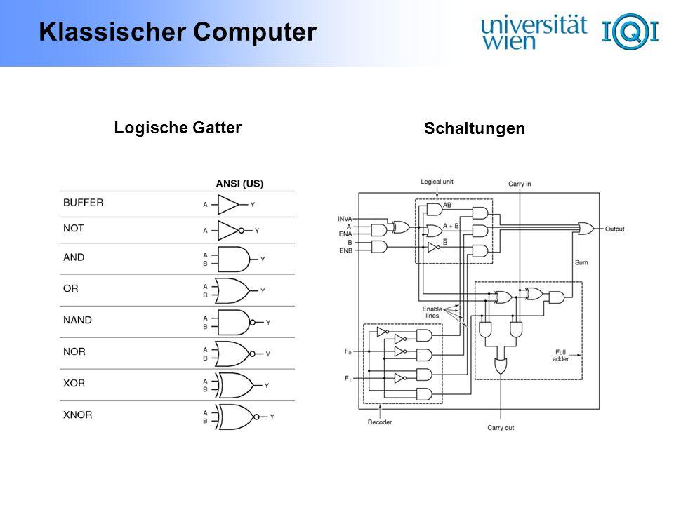 Klassischer Computer Logische Gatter Schaltungen