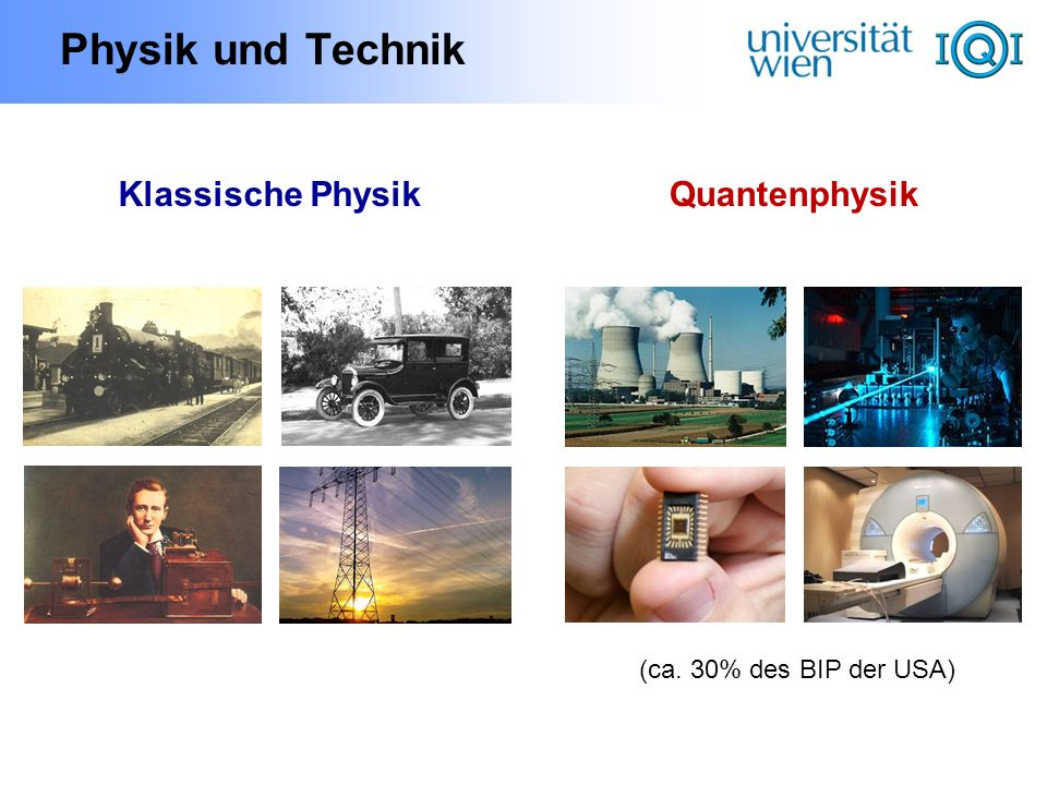 Physik und Technik Klassische Physik Quantenphysik