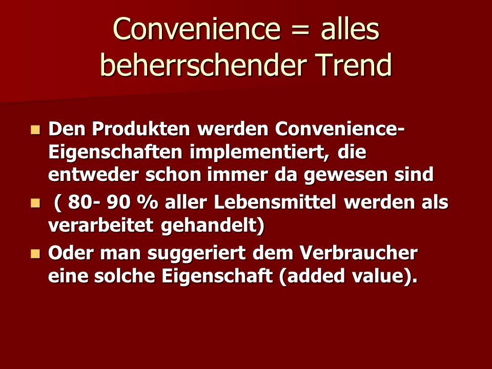 Convenience = alles beherrschender Trend