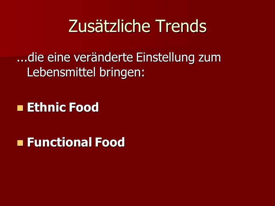 Zusätzliche Trends ...die eine veränderte Einstellung zum Lebensmittel bringen: Ethnic Food.