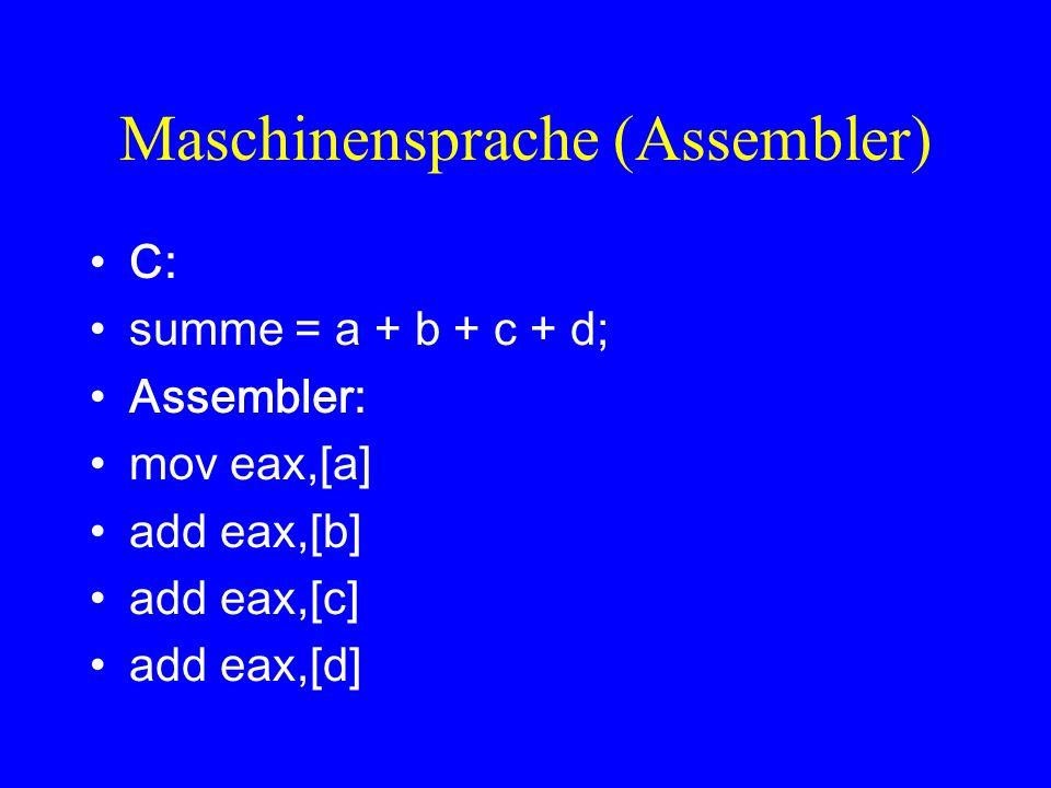 Maschinensprache (Assembler)