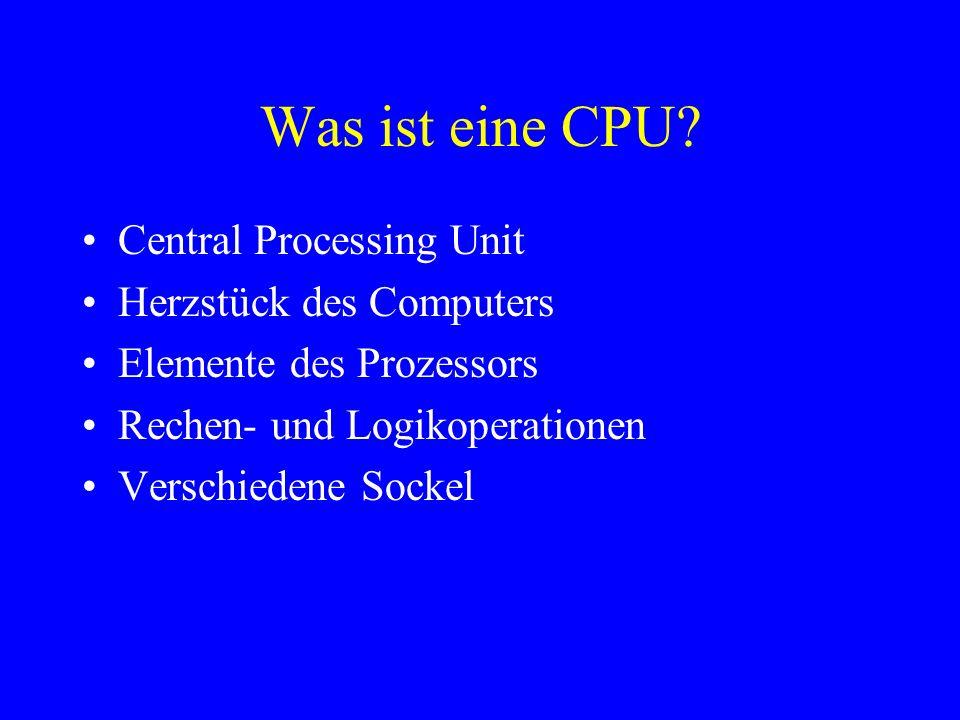 Was ist eine CPU Central Processing Unit Herzstück des Computers
