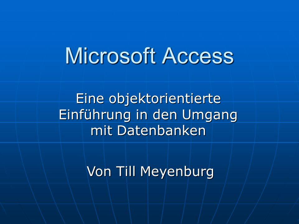Eine objektorientierte Einführung in den Umgang mit Datenbanken
