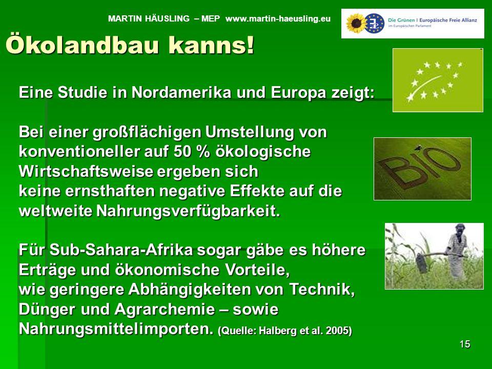 Ökolandbau kanns! Eine Studie in Nordamerika und Europa zeigt: