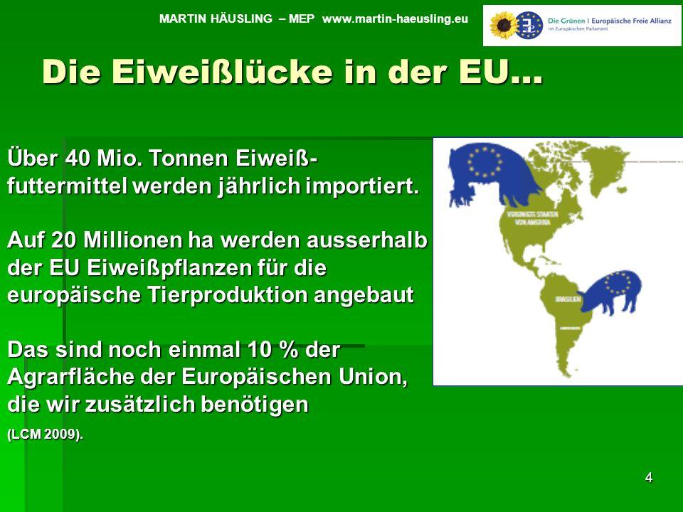 Die Eiweißlücke in der EU…
