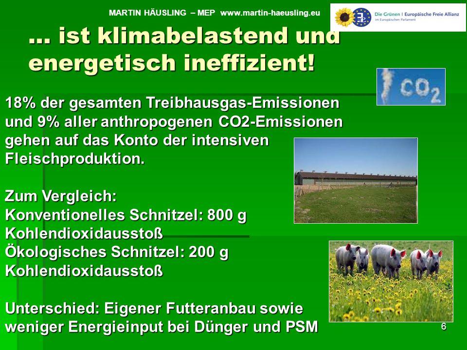 … ist klimabelastend und energetisch ineffizient!