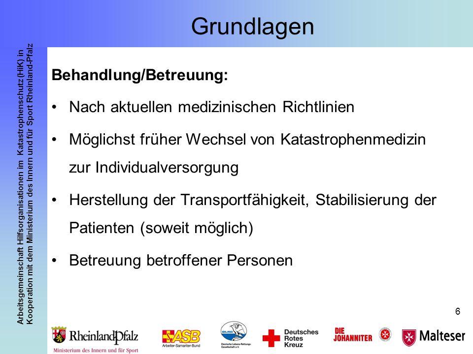 Grundlagen Behandlung/Betreuung: