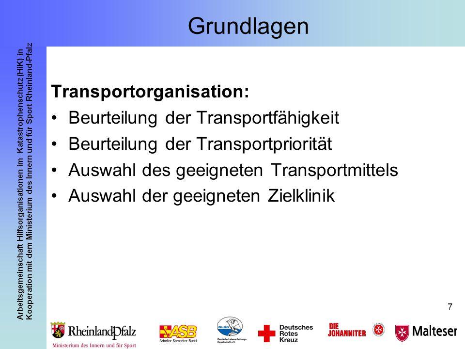 Grundlagen Transportorganisation: Beurteilung der Transportfähigkeit