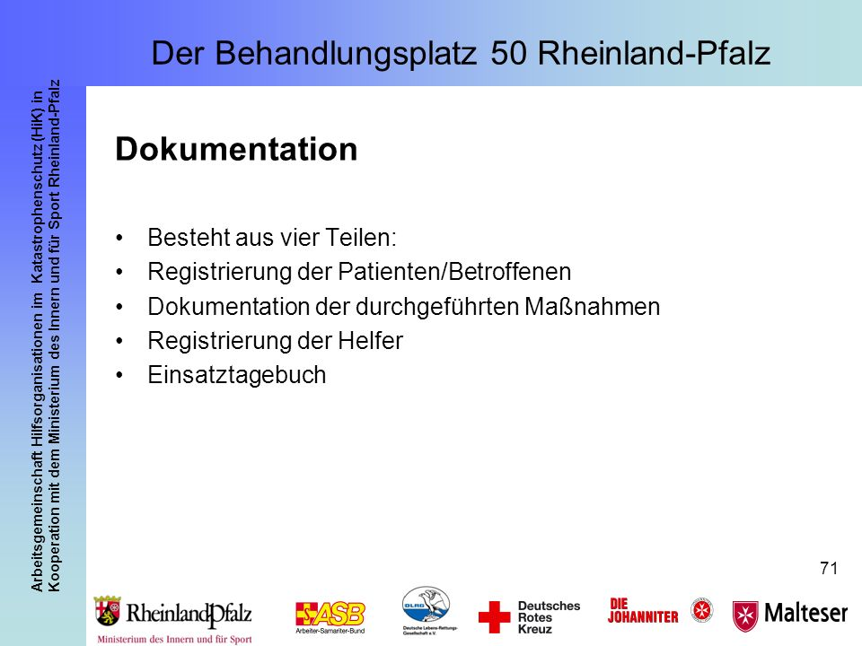 Der Behandlungsplatz 50 Rheinland-Pfalz