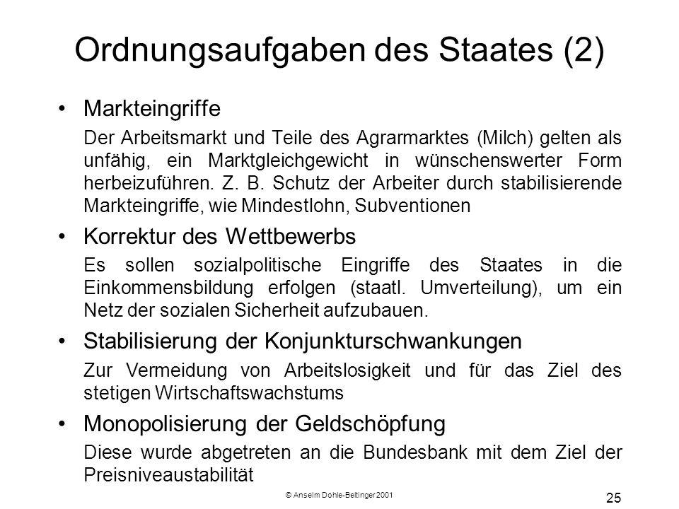 Ordnungsaufgaben des Staates (2)