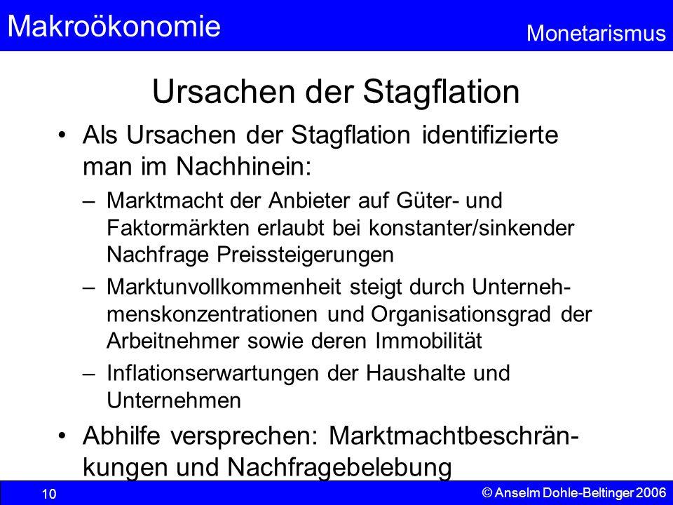 Ursachen der Stagflation