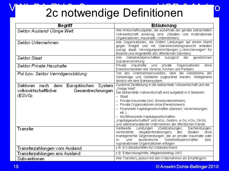 2c notwendige Definitionen