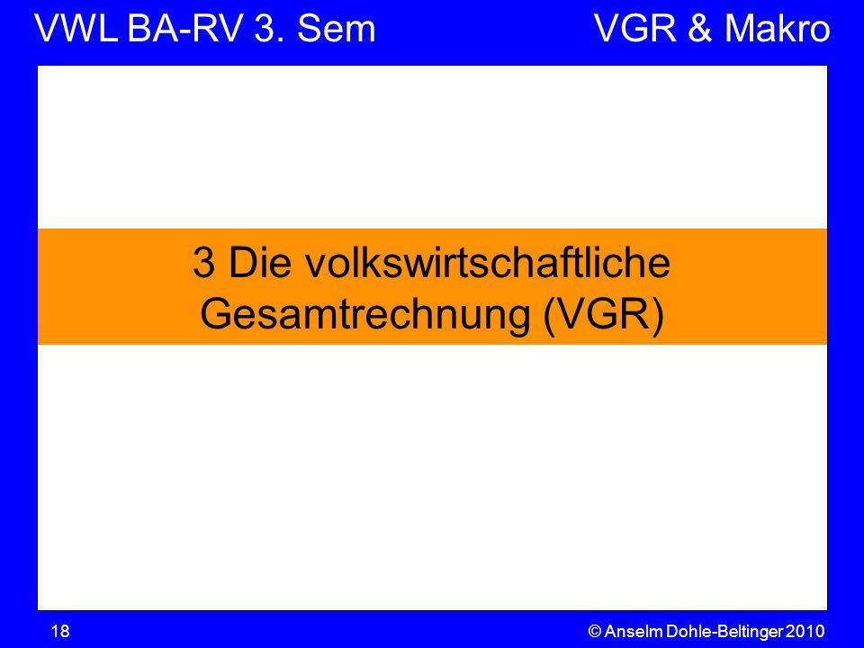 3 Die volkswirtschaftliche Gesamtrechnung (VGR)