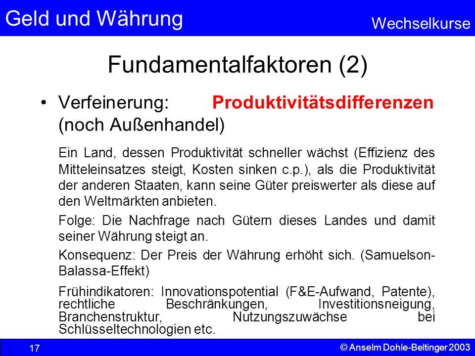 Fundamentalfaktoren (2)